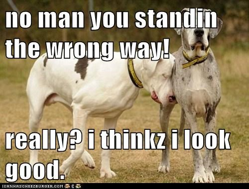 no man you standin the wrong way!  really? i thinkz i look good.
