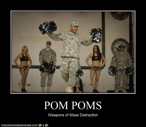 cheerleading,political pictures,pom poms,soliders