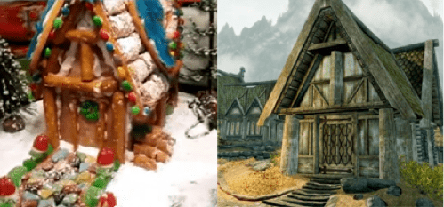 Skyrim Gingerbread House of the Day