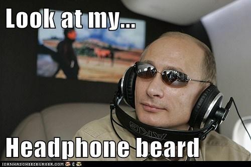 headphones,political pictures,Vladimir Putin