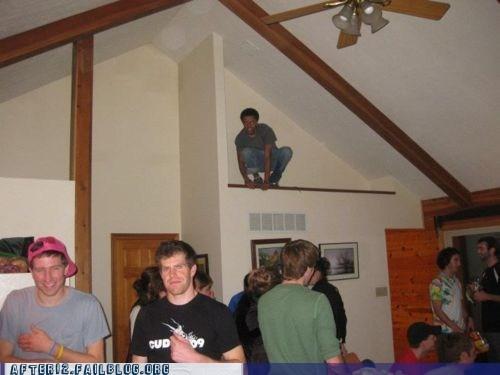 alcohol,booze,ceiling,freaking out,gargoyle,reaction