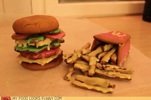 burger,fries,gingerbread,McDonald's