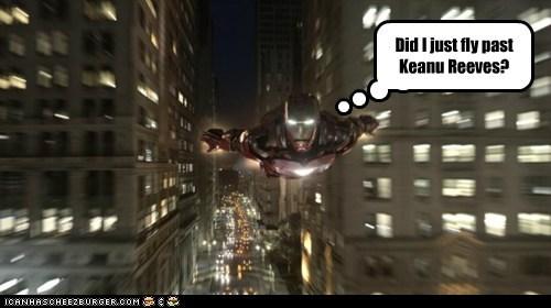 avengers,flying,iron man,keanu reeves,matrix,tony stark