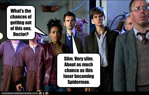 andrew garfield,chances,David Tennant,doctor who,freema agyemen,pig,slim,Spider-Man,the doctor