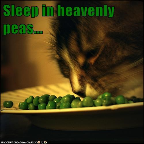 Sleep in heavenly peas...