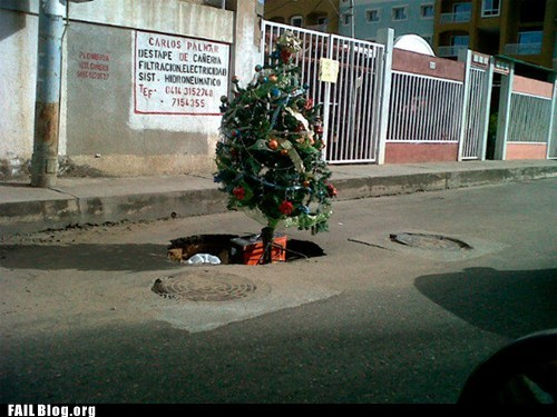 Christmas Tree Location FAIL