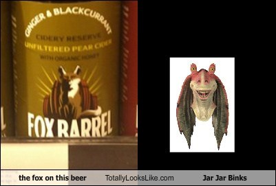 The Fox On This Beer Totally Looks Like Jar Jar Binks