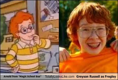 """Arnold from """"Magic School Bus"""" Totally Looks Like Greyson Russell as Fregley"""