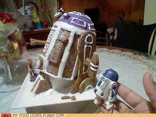 art,gingerbread,icing,r2d2,star wars