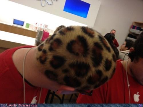 apple store,hair,leopard print,undercover leopard