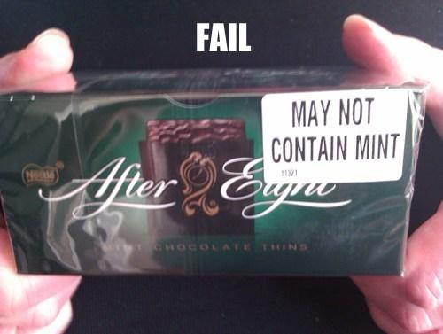 Mint Ingredient FAIL