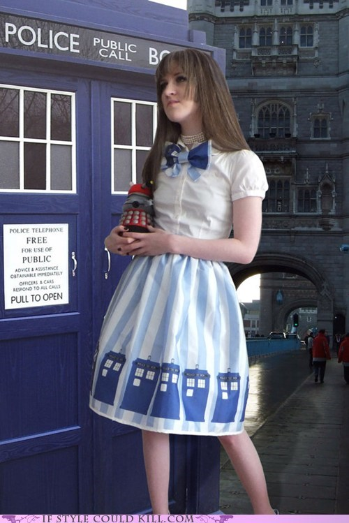 cool accessories,doctor who,dress,tardis