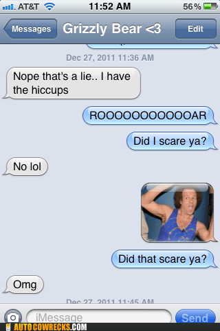 hiccups,richard simmons,scared