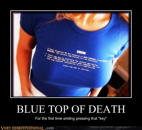 bewbs,blue screen,hilarious,Sexy Ladies,T.Shirt