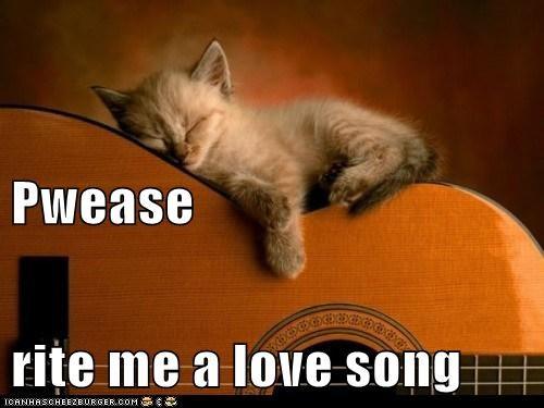 Pwease rite me a love song