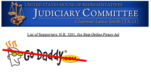 Another Follow Up of the Day: GoDaddy Officially Stops Supporting SOPA as Boycott Continues