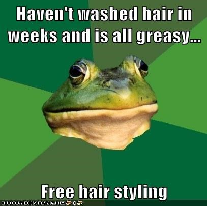 cream,foul bachelor frog,free,grease,hair