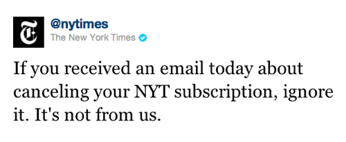 New York Times Spam of the Day
