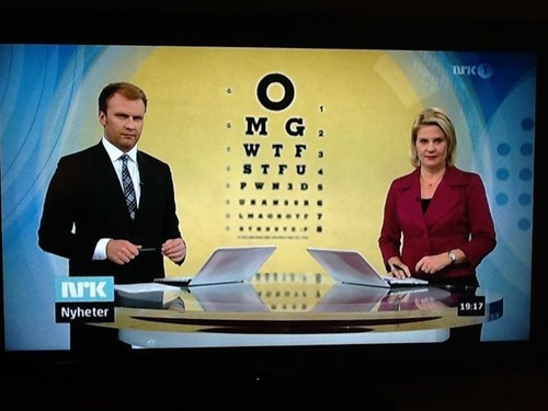 Probably Bad News: Standard Norwegian Eye Test