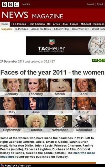 2011,bbc,panda,political pictures,women