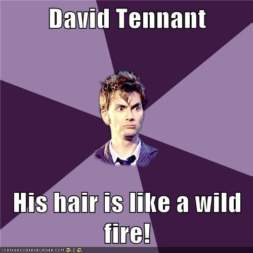 David Tennant  His hair is like a wild fire!