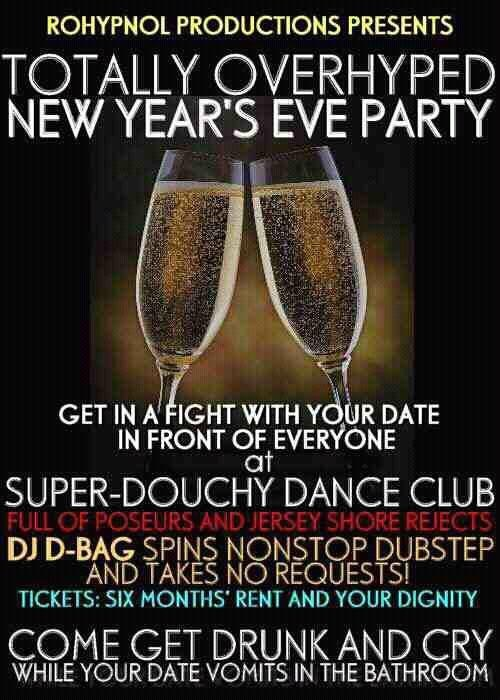 Literal New Year's Eve Party Promotion of the Day