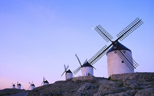 europe,getaways,Spain,wallpaper,wallpaper of the day,windmill