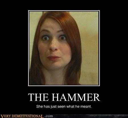 captain hammer,Felicia Day,hilarious,Sexy Ladies,surprise