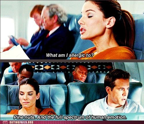 allergic,ryan reynolds,Sandra Bullock,the proposal