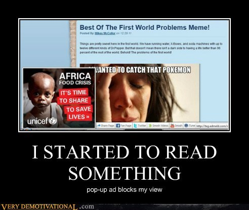 I STARTED TO READ SOMETHING