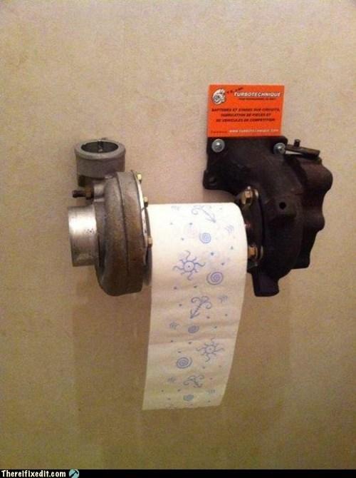 bathroom,cars,dual use,toilet paper,turbo