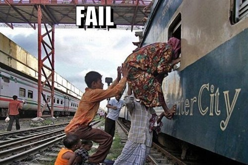 Train Passanger Fail