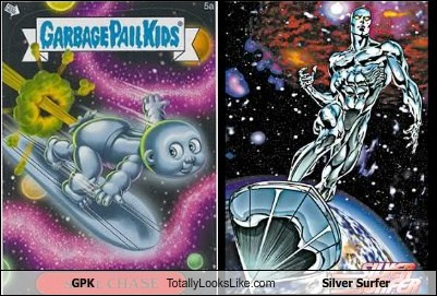 GPK Totally Looks Like Silver Surfer