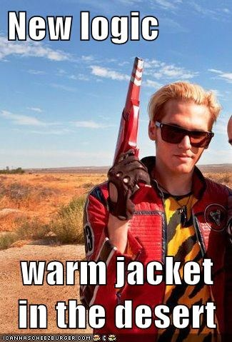 New logic  warm jacket in the desert