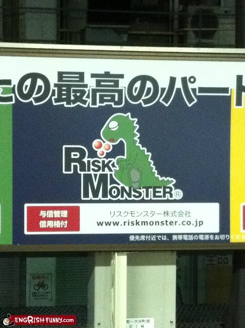 Risk monster looks sleepy