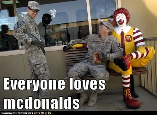 Everyone loves mcdonalds
