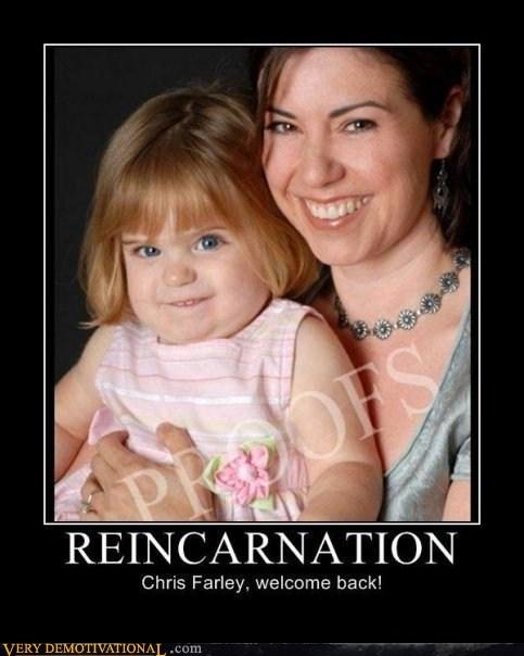baby,chris farley,hilarious,reincarnation
