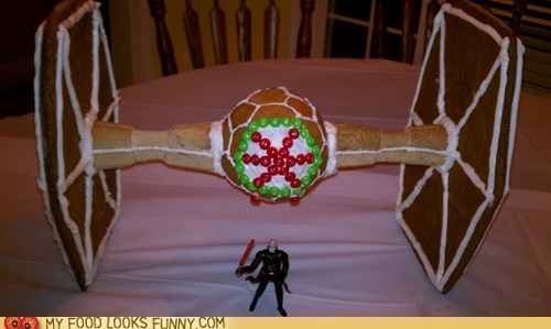 Gingerbread Tie Fighter