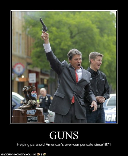 guns,political pictures,Rick Perry