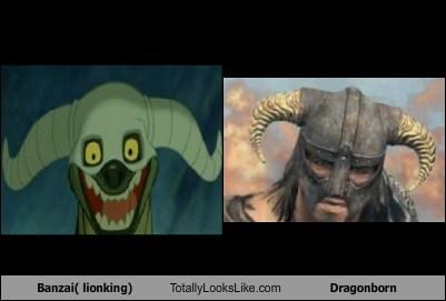 Banzai (Lion King) Totally Looks Like Dragonborn