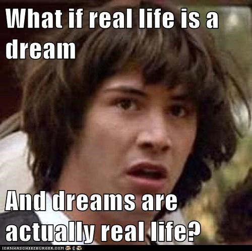 What if real life is a dream  And dreams are actually real life?