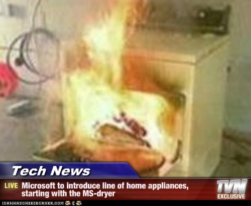 Tech News - Microsoft to introduce line of home appliances, starting with the MS-dryer