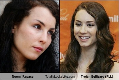 Noomi Rapace Totally Looks Like Troian Bellisaro (PLL)
