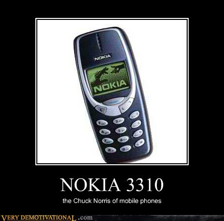 chuck norris,Hall of Fame,hilarious,mobile phone,nokia 3310
