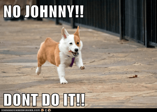 NO JOHNNY!!