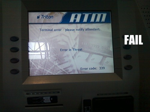 ATM Diagnosis FAIL
