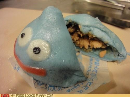 blue,bun,doragon quest,dough,meat,meat bun,slime