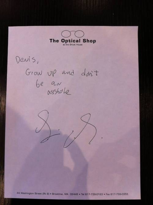 Alleged Autograph of the Day