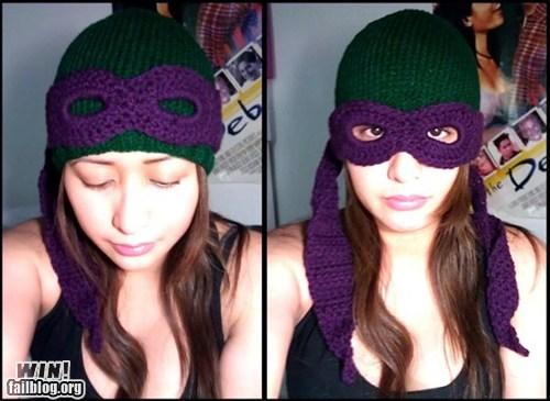 clothing,crochet,fashion,hat,nerdgasm,TMNT