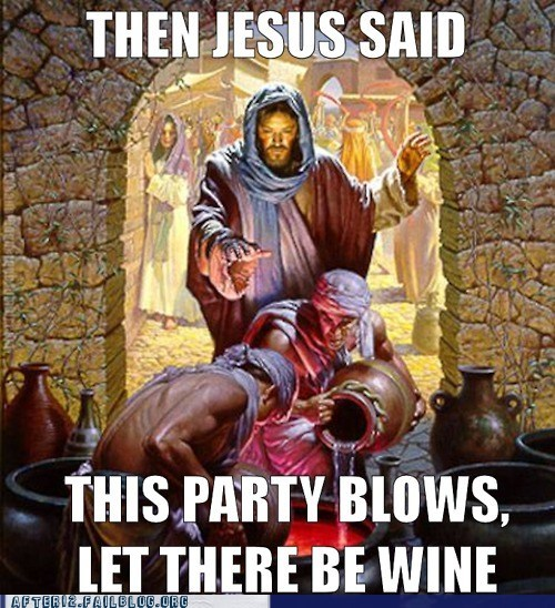 booze,christianity,drinking,jesus,Party,wine